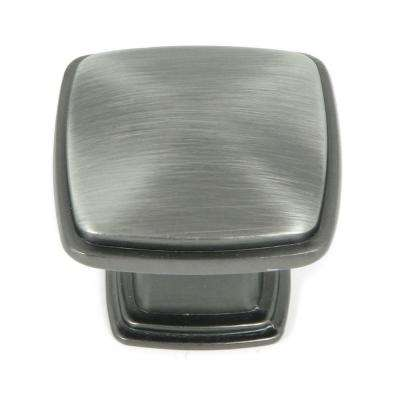 Providence 1-1/4 in. Weathered Nickel Square Cabinet Knob (25-Pack)