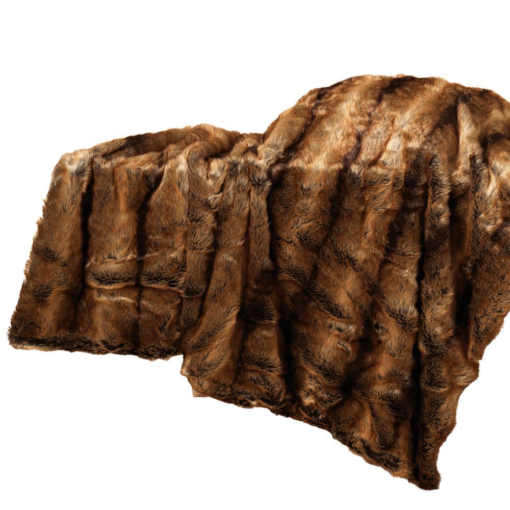 59  in. L Faux Fur Throw Blanket