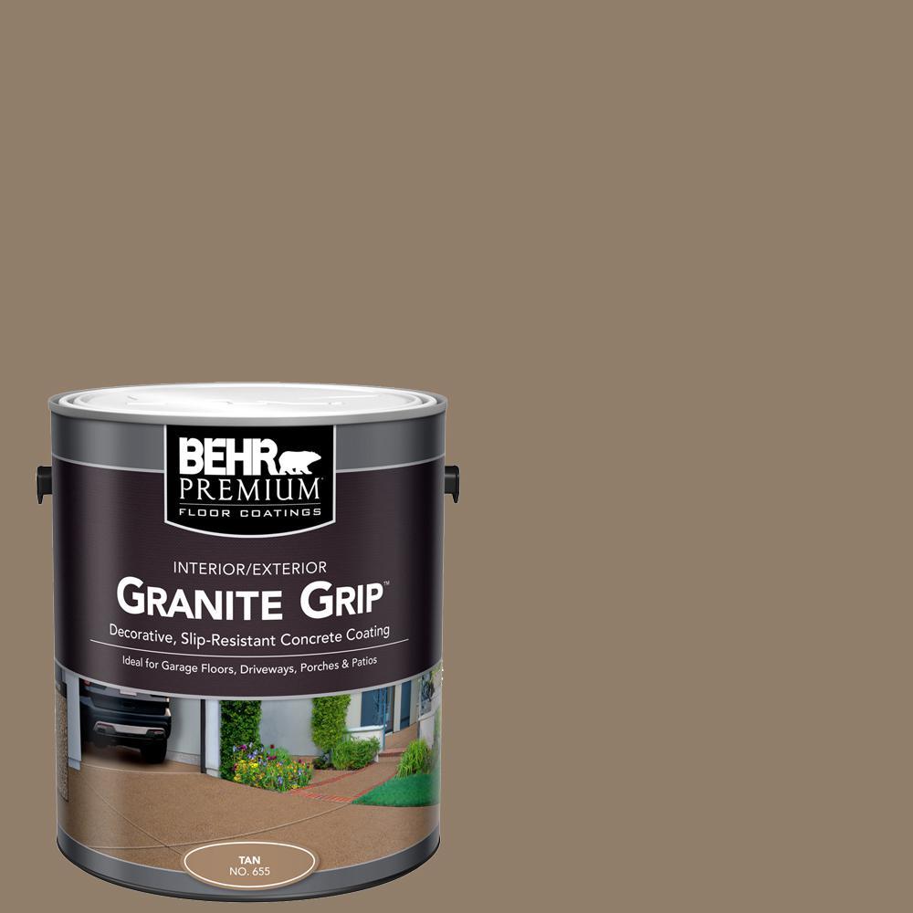 1 gal. #65501 Tan Granite Grip Decorative Interior/Exterior Concrete Floor Coating