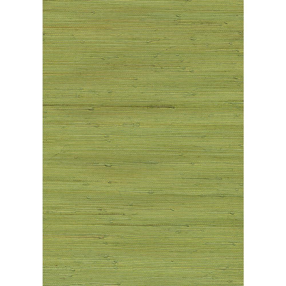 8 in. x 10 in. Jirou Green Grasscloth Wallpaper Sample