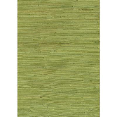 Jirou Green Grasscloth Peelable Wallpaper (Covers 72 sq. ft.)