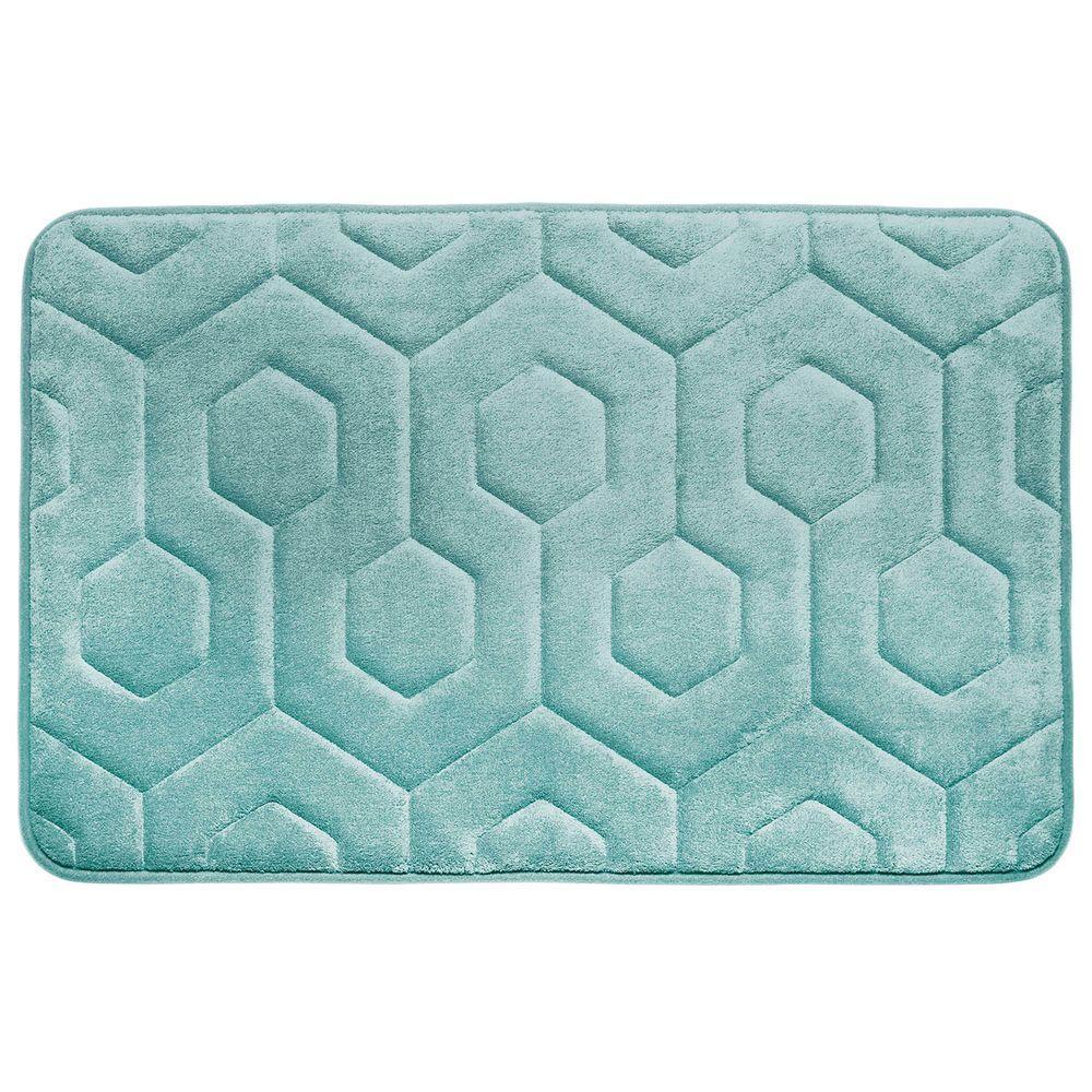 Bouncecomfort Hexagon Aqua 20 In X 34 In Memory Foam