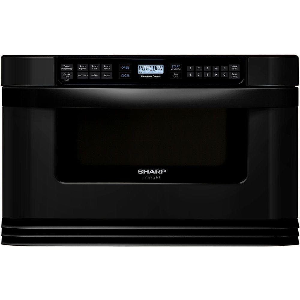 Sharp Refurbished Insight 1.0 cu. ft. Microwave Drawer in Black with Sensor Cooking