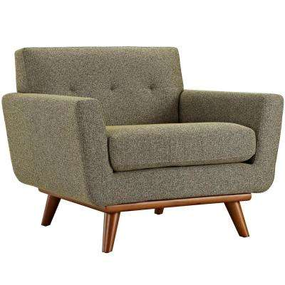 Engage Upholstered Armchair in Oatmeal