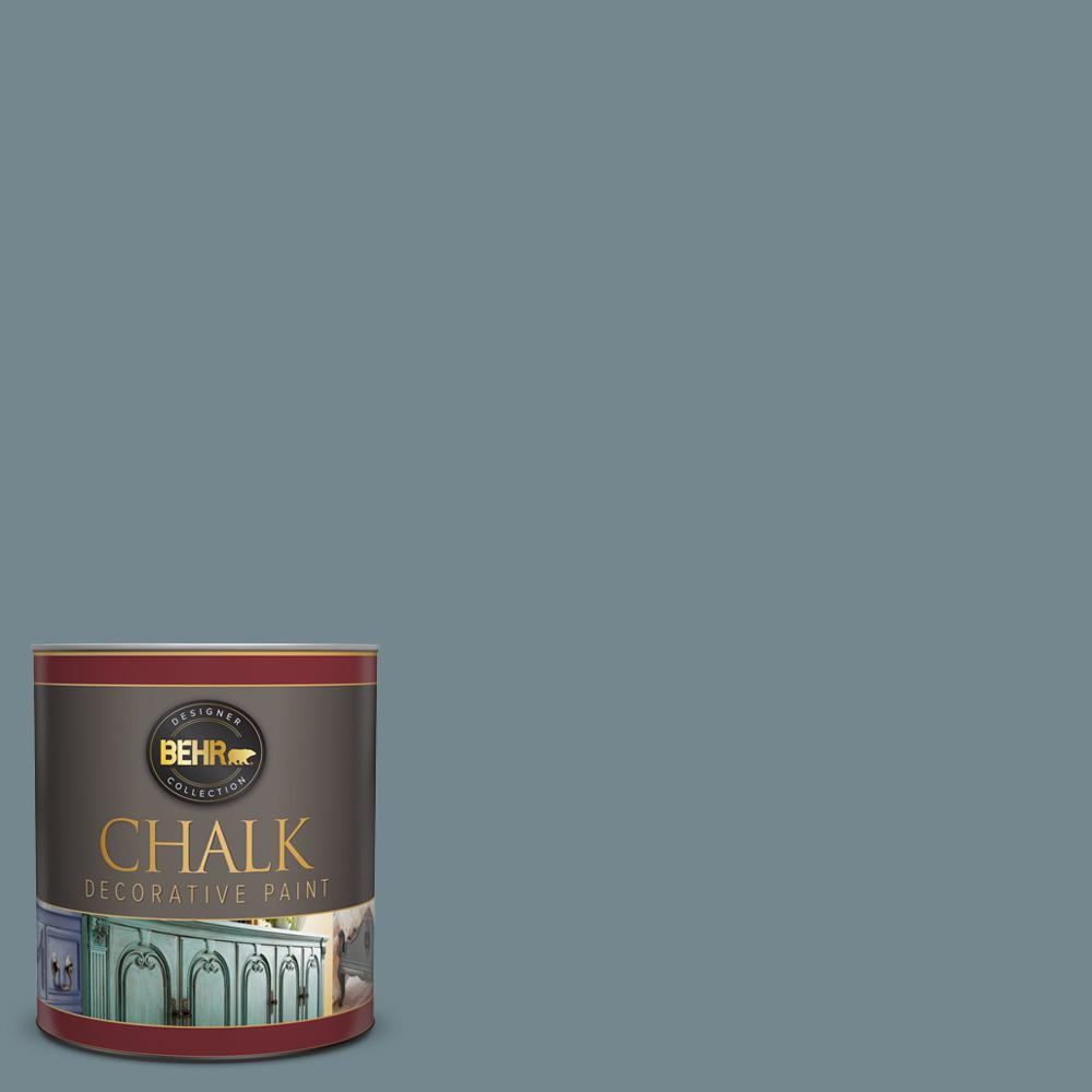 BEHR 1 qt. #N470-5 Norwegian Blue Interior Chalk Finish Paint