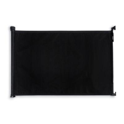 36 in. H Retractable Fabric Safety Gate in Black