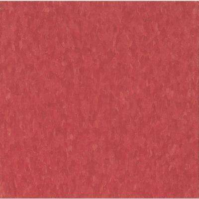Take Home Sample - Imperial Texture VCT Maraschino Standard Excelon Commercial Vinyl Tile - 6 in. x 6 in.