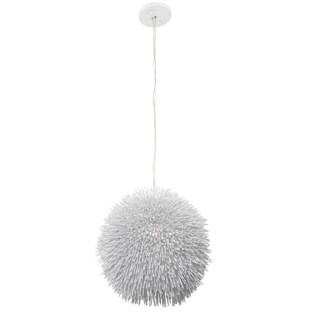 Varaluz Urchin 1-Light White Pendant