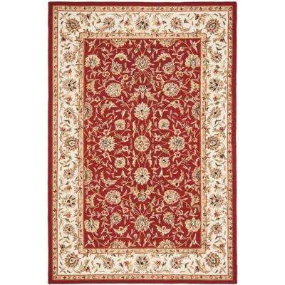 Chelsea Burgundy/Ivory 5 ft. 3 in. x 8 ft. 3 in. Area Rug