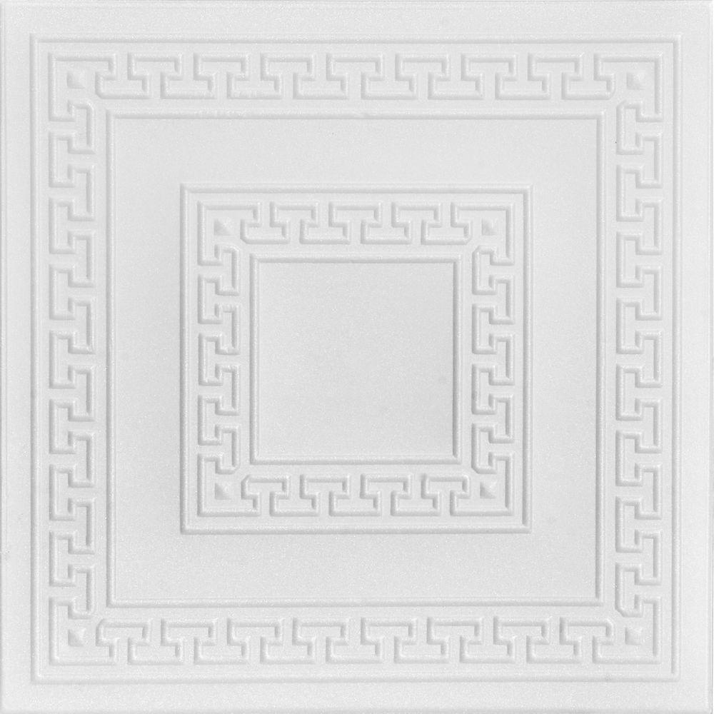 A la maison ceilings greek key 16 ft x 16 ft foam glue up a la maison ceilings greek key 16 ft x 16 ft foam glue dailygadgetfo Image collections