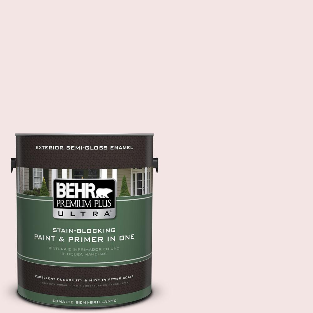 BEHR Premium Plus Ultra 1-gal. #170E-1 Reverie Pink Semi-Gloss Enamel Exterior Paint