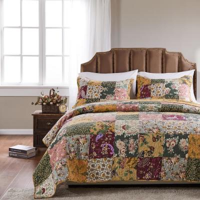 Antique Chic 3-Piece Multicolored King Quilt Set