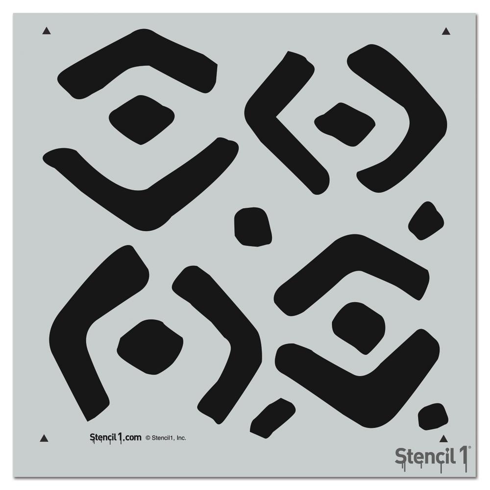 Kuba Repeat Pattern Stencil