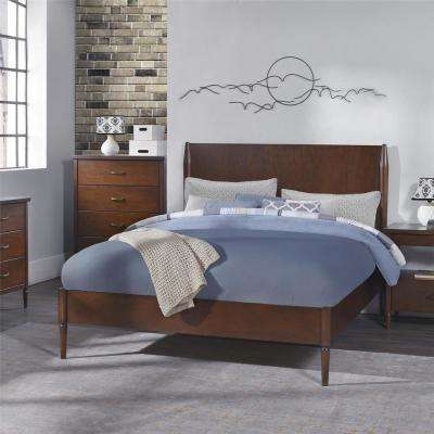 Brook Lane Walnut Queen Bed Frame