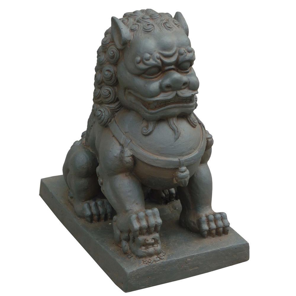 Foo Dog Right Paw on Cub Statue