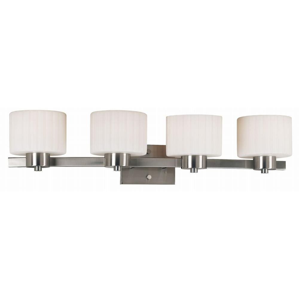Kenroy Home Legacy 4-Light Brushed Steel Wall Vanity Light