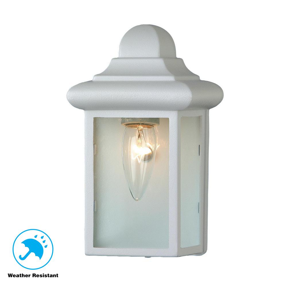 Vista 1 Light White Outdoor Wall Mount Sconce 44835 Wh