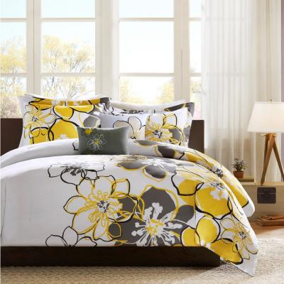 Mi Zone Skylar 4 Piece Yellow/Grey Full/Queen Comforter Set MZ10