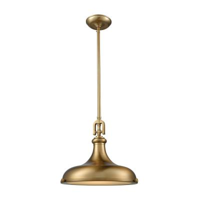 Rutherford 1-Light Satin Brass with Frosted Glass Diffuser Pendant