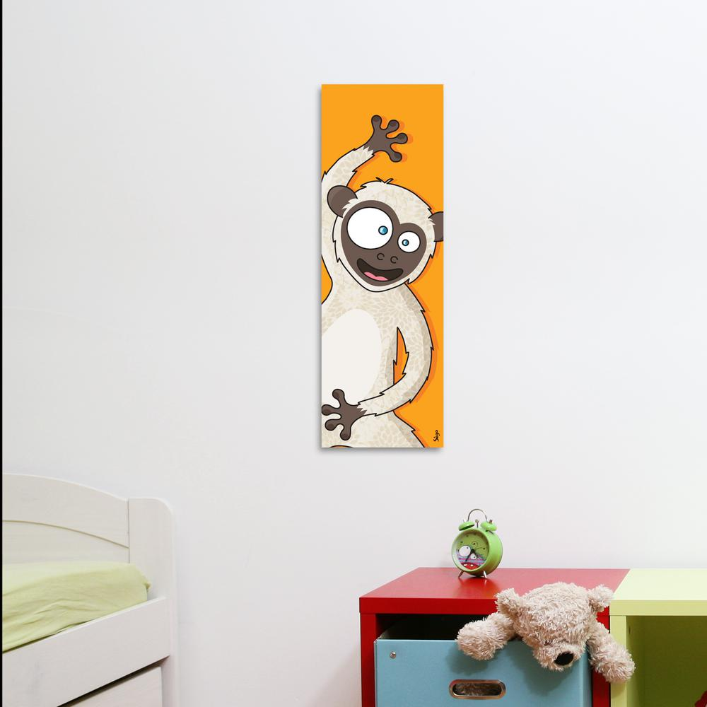 Adzif (24 in. x 8 in.) Monkey by Sego, printed and framed Canvas Wall Art, Orange was $42.05 now $31.0 (26.0% off)