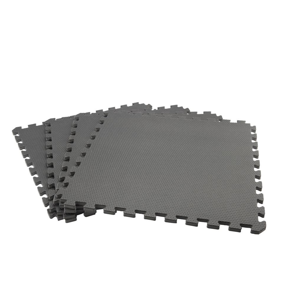 Black/Gray 24 in. x 24 in. x .52 in. Dual Sided Impact Tile