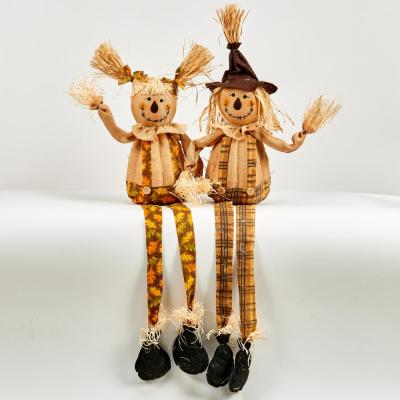 36 in. Sitting Scarecrows (Set of 2)