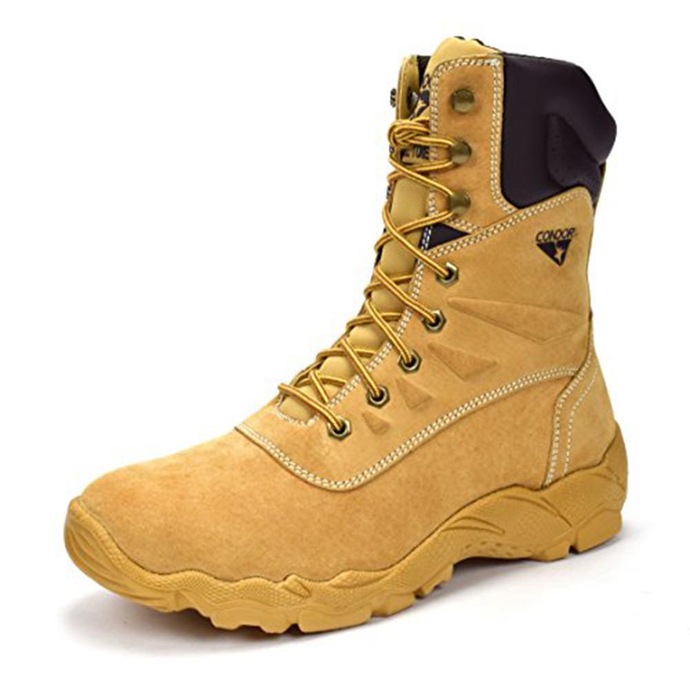 Men's Tan, Size 9.5 E US 8 in. Steel Toe Work Boot