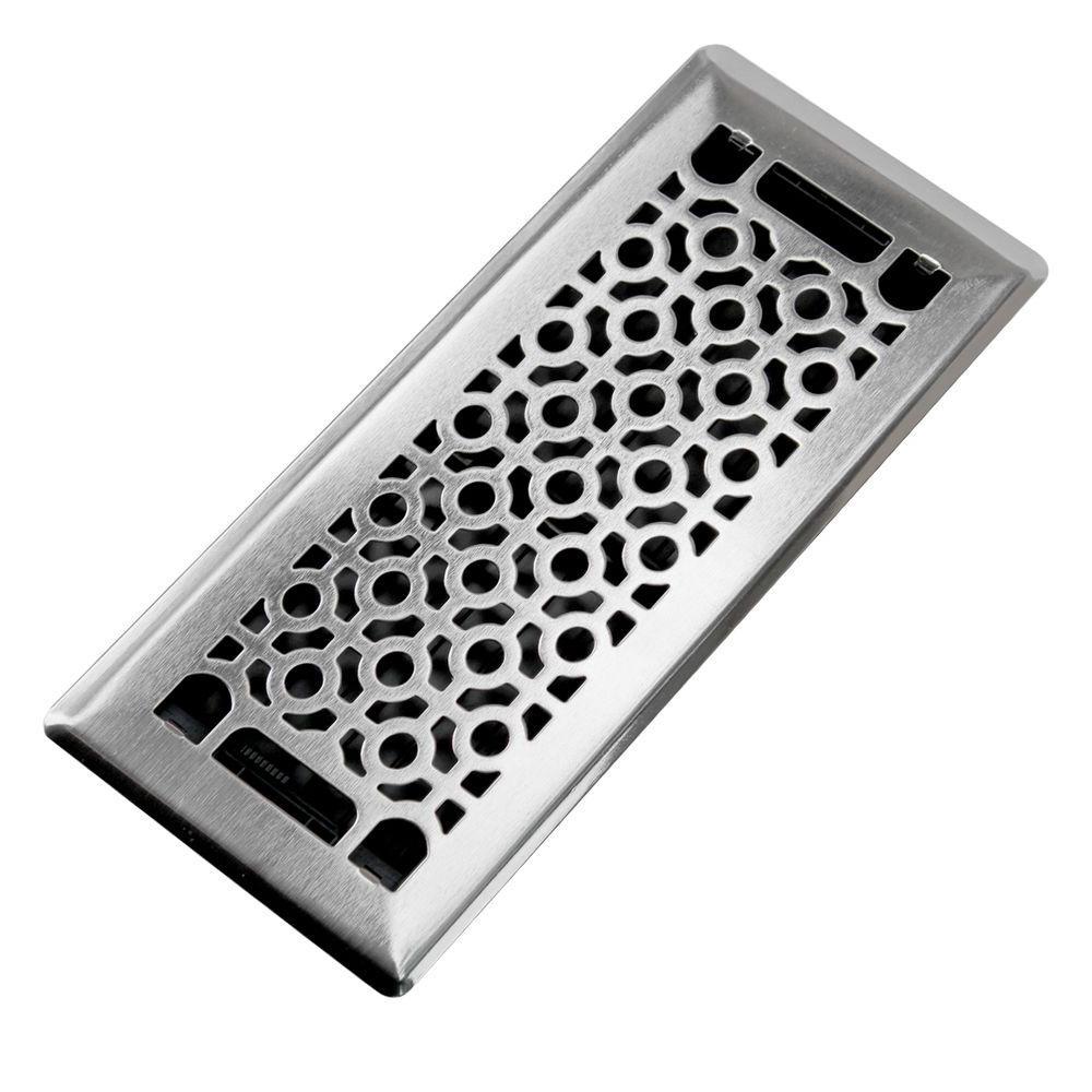 Trademark Tools Cosmo 4 In X 10 Steel Beveled Edge Floor Register