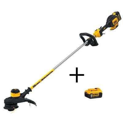 20-Volt Li-Ion Cordless 13 in. Brushless Dual Line String Grass Trimmer w/ 5Ah Battery, Charger & Bonus Battery Included