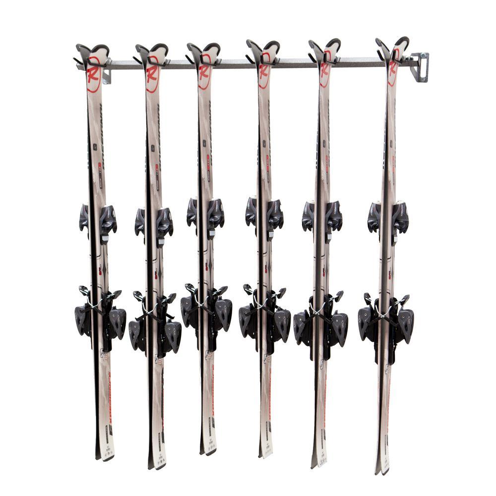51 in. 6-Ski Storage Rack