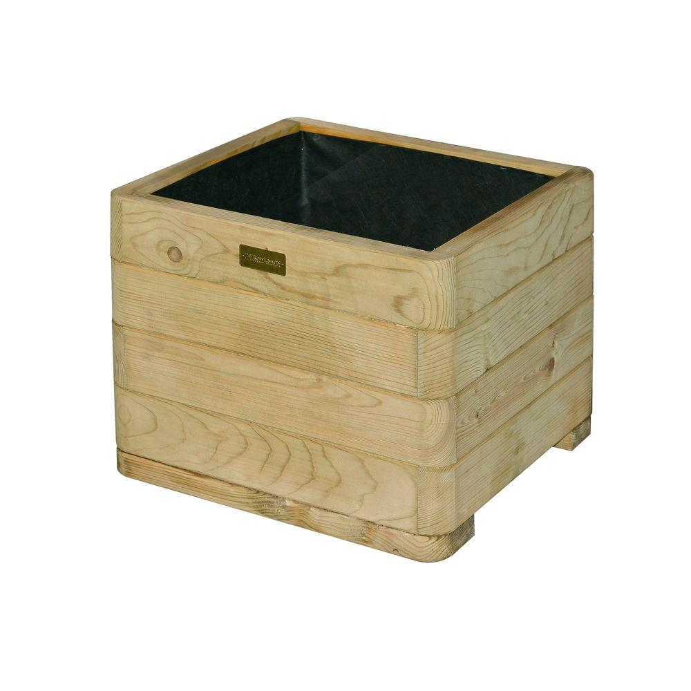 bosmere english garden 20 in. x 15 in. square wood planter-a060