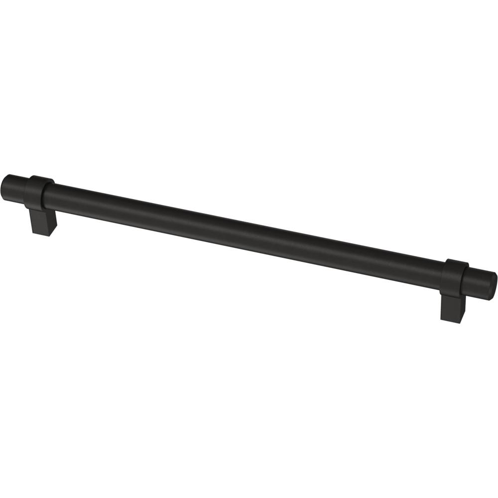 Liberty Essentials 8-13/16 in. (224mm) Center-to-Center Wrapped Matte Black Bar Pull (12-Pack)