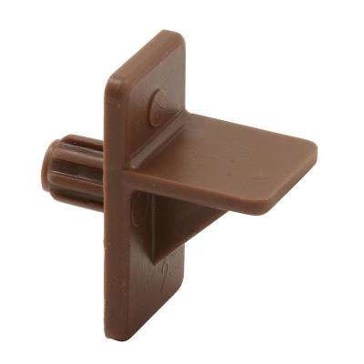1/4 in. Brown Plastic Shelf Support Peg (8-Pack)