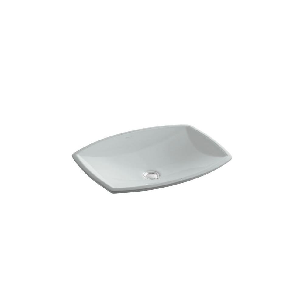Kelston Undercounter Vitreous China Bathroom Sink with Overflow Drain in Ice
