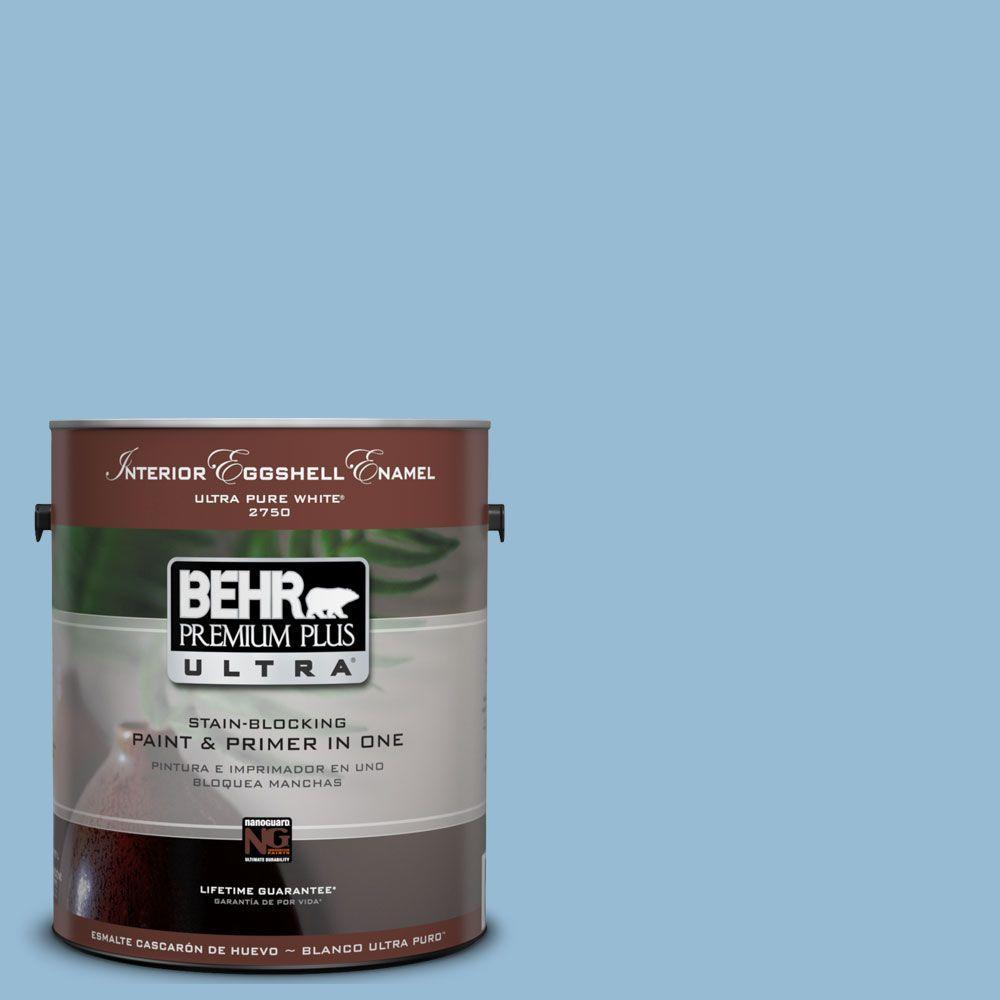 BEHR Premium Plus Ultra 1-Gal. #UL230-15 Gentle Sky Interior Eggshell Enamel Paint