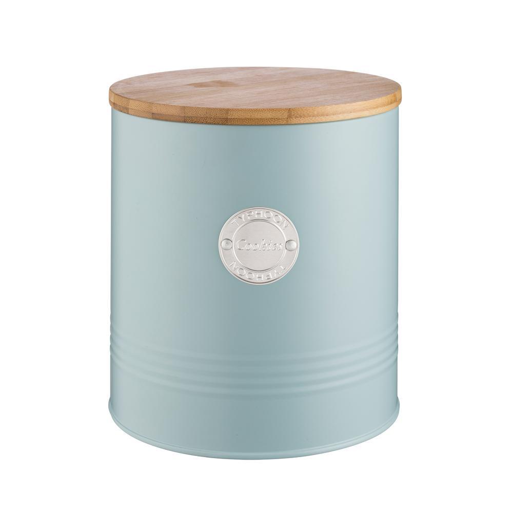 Living Coated-Steel Blue Cookie Storage