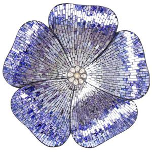 River of Goods Purple Mosaic Glass Flower Wall Decor by River of Goods