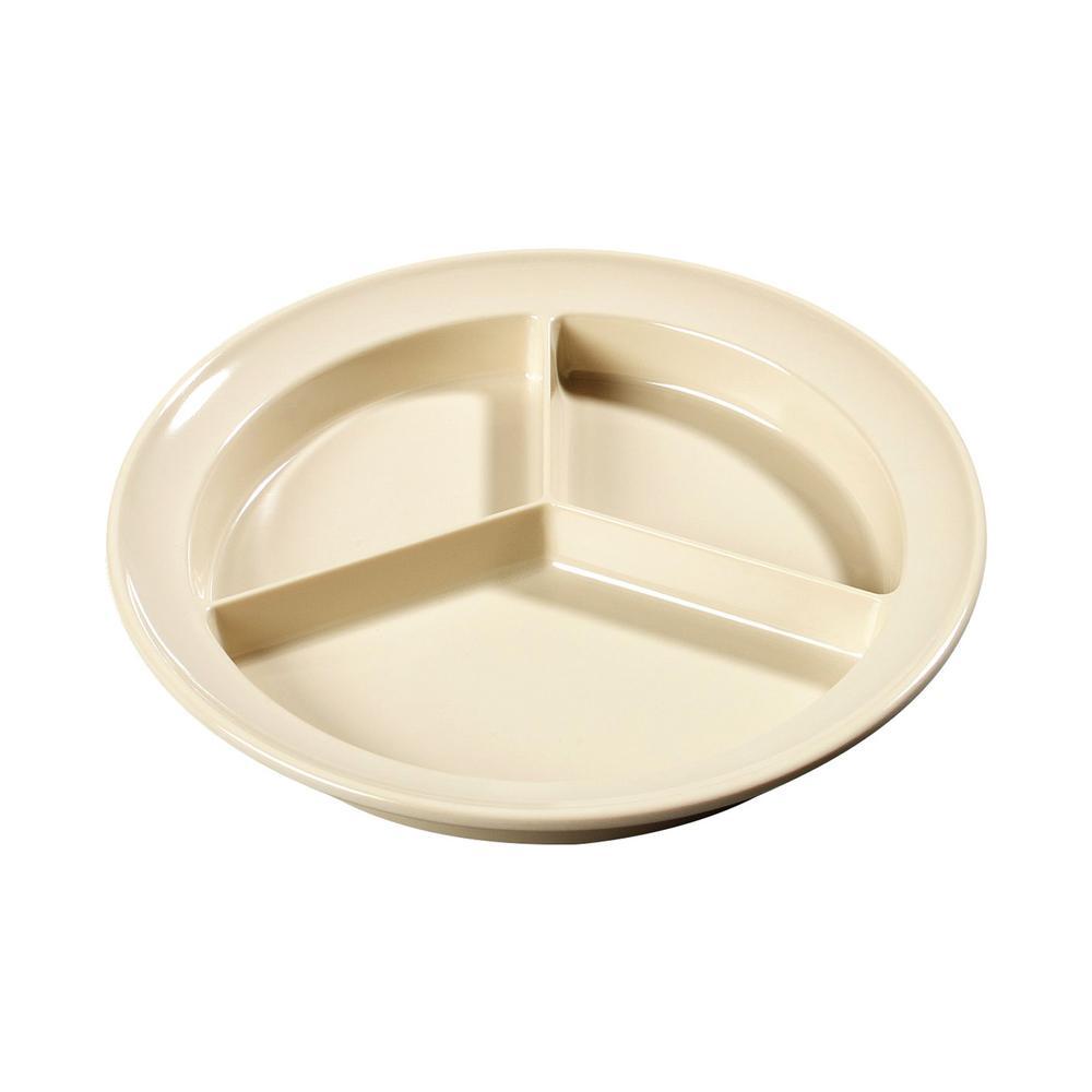 Carlisle Durus 9 in. Green Melamine Narrow Rim Dinner Plate (24-Pack)