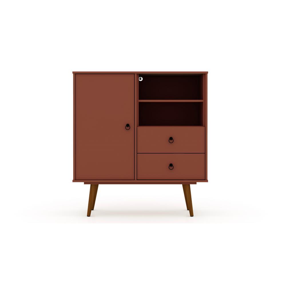 2-Drawer Terra Orange Pink Montauk Mid-Century Modern Dresser