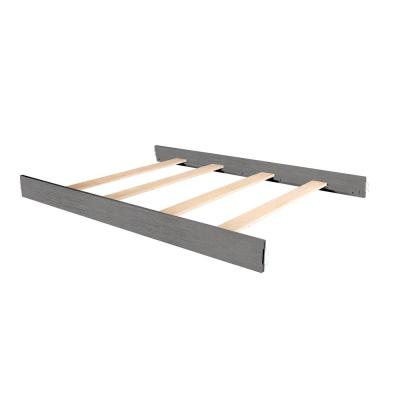 Rustic Grey Wooden Full Size Bed Rail (1-Pack)