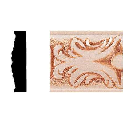 1/2 in. x 2 in. x 8 ft. Hardwood Embossed Batten Moulding