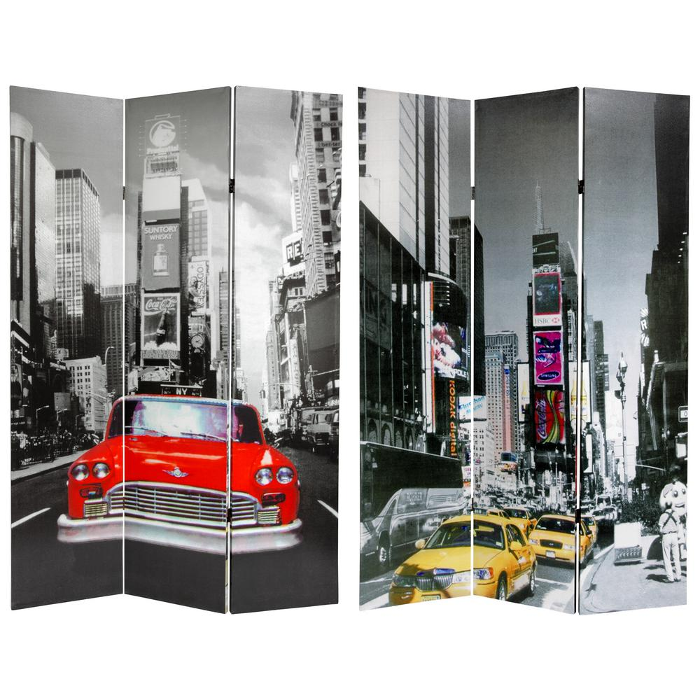 6 ft. Printed 3-Panel New York City Taxi Room Divider-CV ...