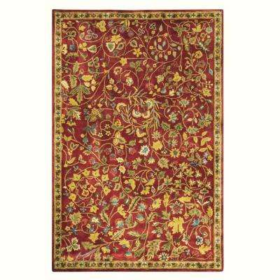 Bristol Red 8 ft. x 11 ft. Area Rug