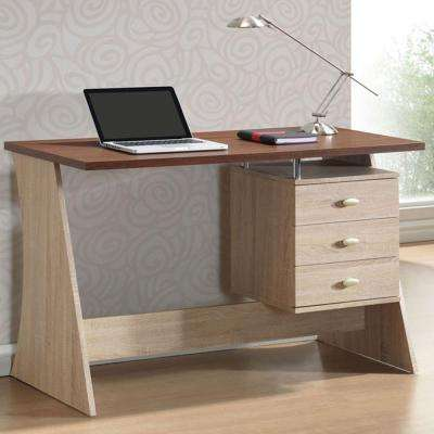 Parallax Contemporary White Finished Wood Desk