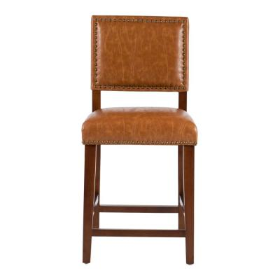 Brook 24 in. Caramel Cushioned Bar Stool