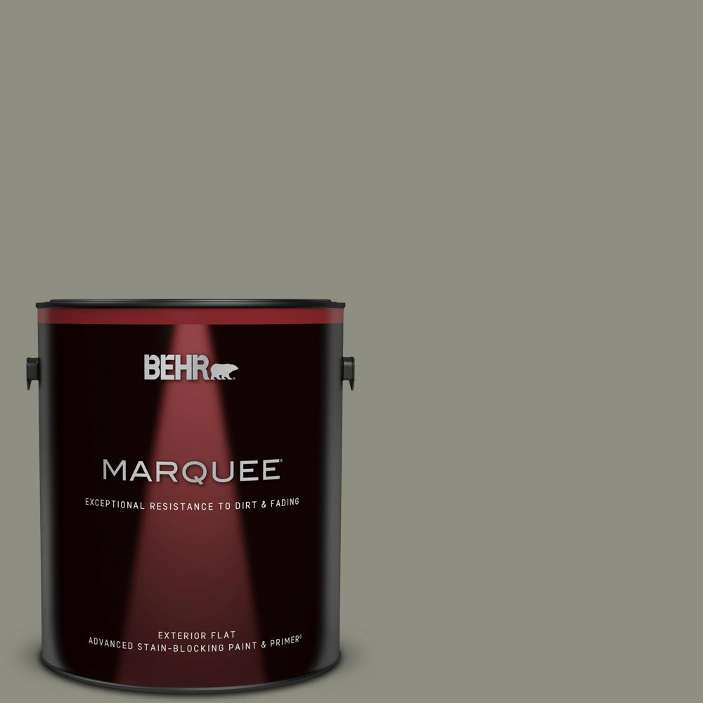 Behr Marquee 1 Gal N370 5 Incognito Flat Exterior Paint And Primer In One 445401 The Home Depot