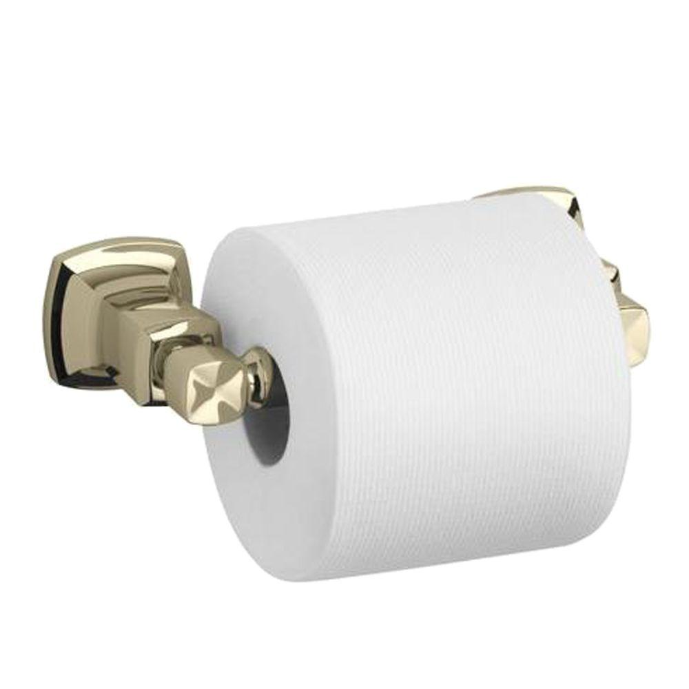 Margaux Single Post Toilet Paper Holder in Vibrant French Gold