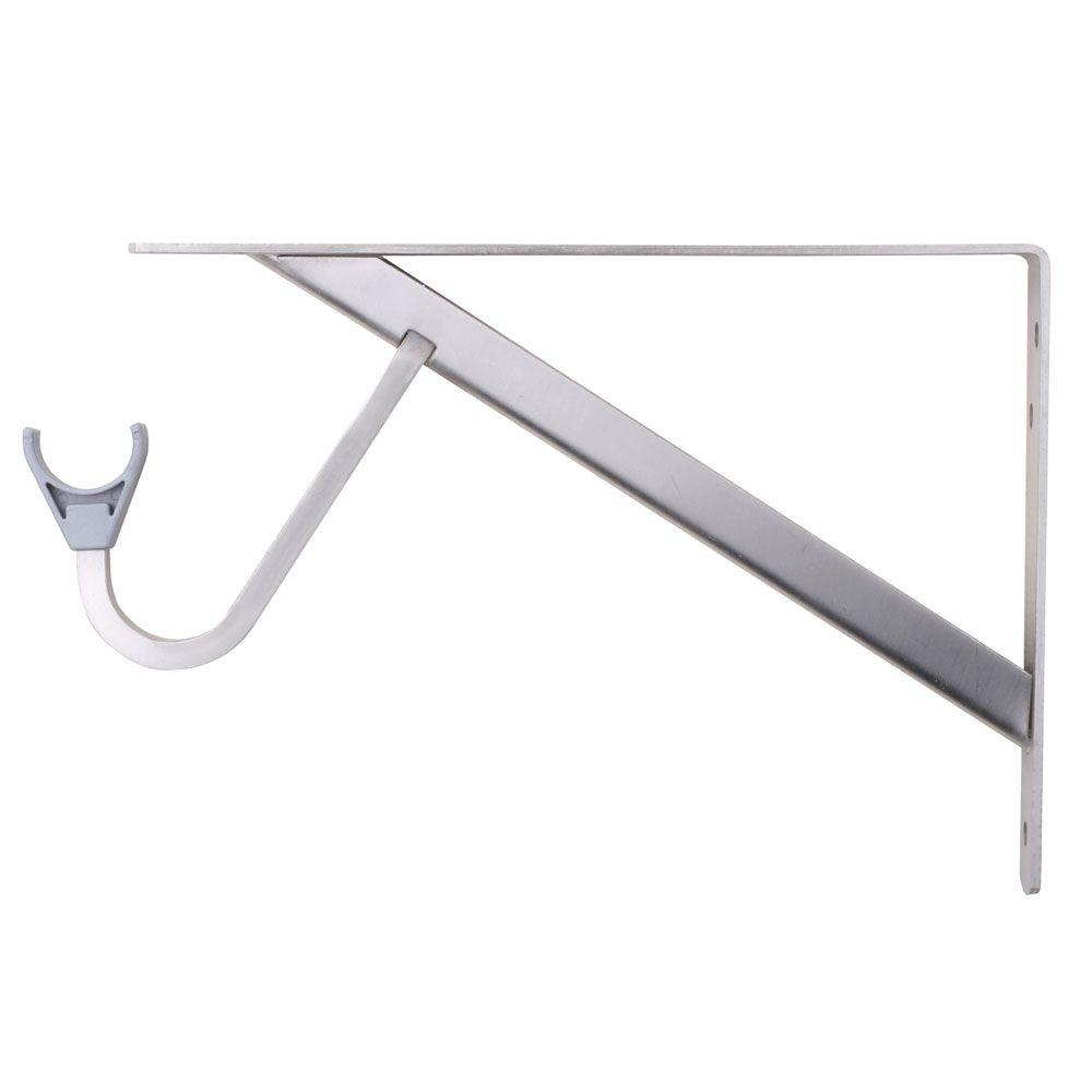 Everbilt 11 25 In X 1 05 In Brushed Nickel Shelf And Rod Bracket