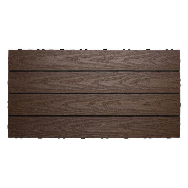UltraShield Naturale 1 ft. x 2 ft. Quick Deck Outdoor Composite Deck Tile in Spanish Walnut (20 sq. ft. Per Box)