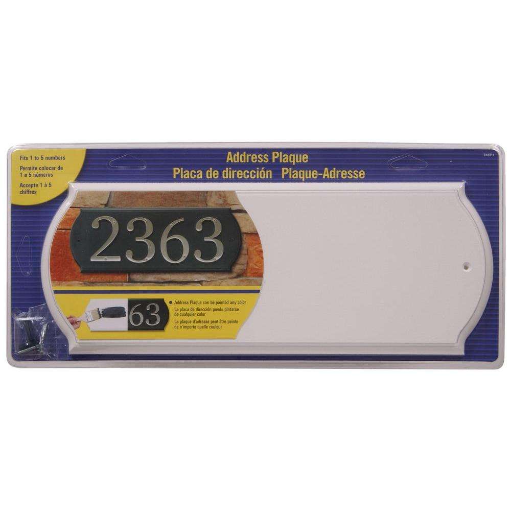 The Hillman Group Rectangular White Address Plaque-848711 - The Home ...